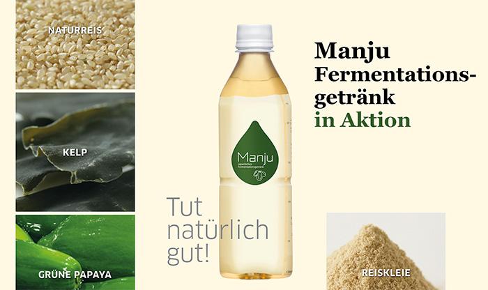 Manju Getränk in Aktion im Oktober