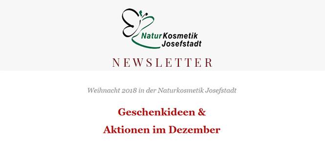 Geschenkideen und Aktionen im Dezember - Newsletter