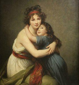 Elisabeth-Louise Vigée Le Brun und ihre Tochter (Selbstporträt)